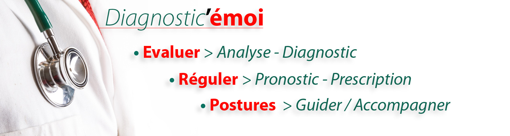 • Diagnostic'émoi… Evaluation (Analyse & Diagnostic) & Régulation (Pronostic & Prescription)